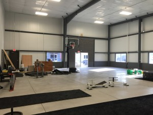 Nevermind the mess, the PSTS Hoop is up with the floor being installed soon!